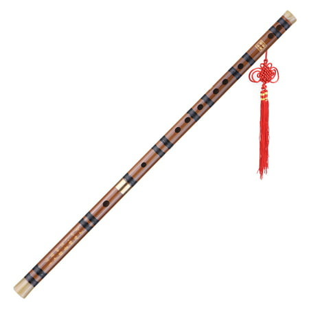 - Pluggable Bitter Bamboo Flute Dizi Traditional Handmade Chinese Musical Woodwind Instrument Key of D Study Level Professional Performance
