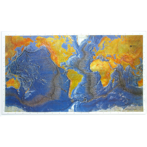 American Educational Products Ocean Floor Map, Unframed