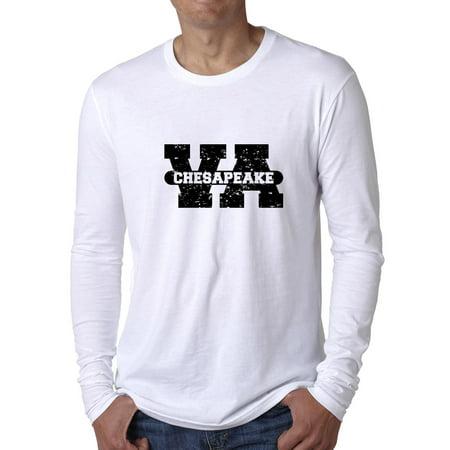 Chesapeake, Virginia VA Classic City State Sign Men's Long Sleeve T-Shirt](Party City Chesapeake Va)