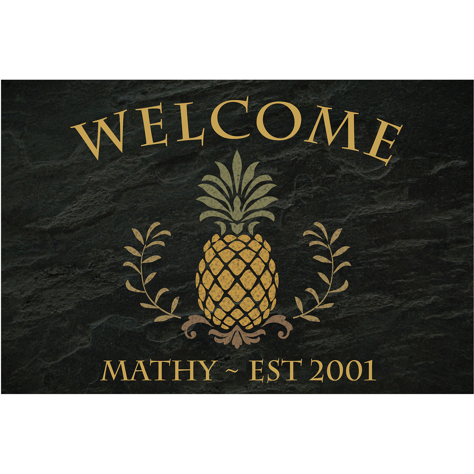 Personalized Pineapple Welcome Doormat Walmart Com Walmart Com