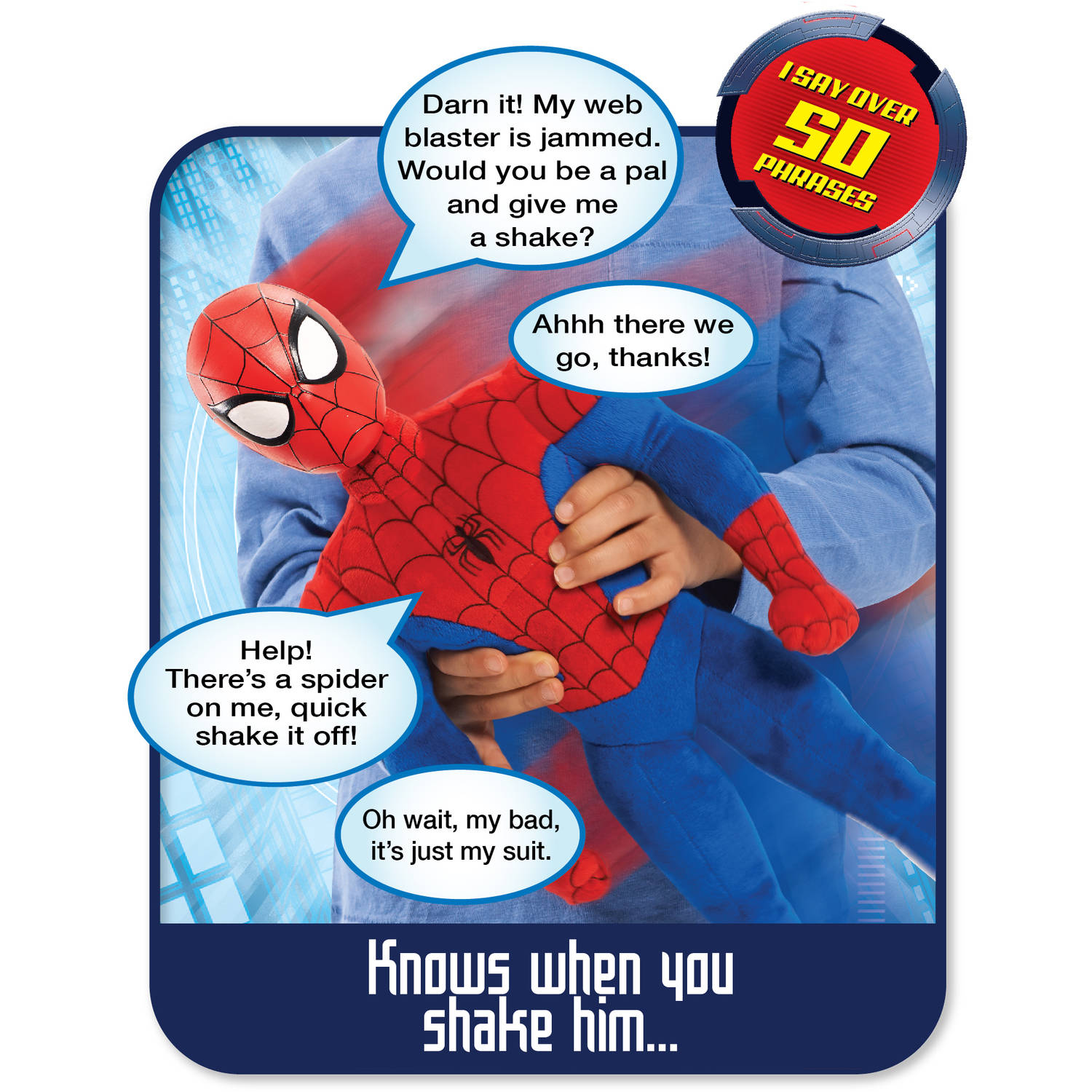 Marvel Ultimate Wise Crackin Spider Man Plush Walmart Com