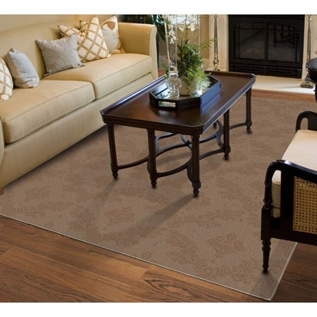 Charleston Patterned Area Rug Brown Anti Fatigue Dry Area