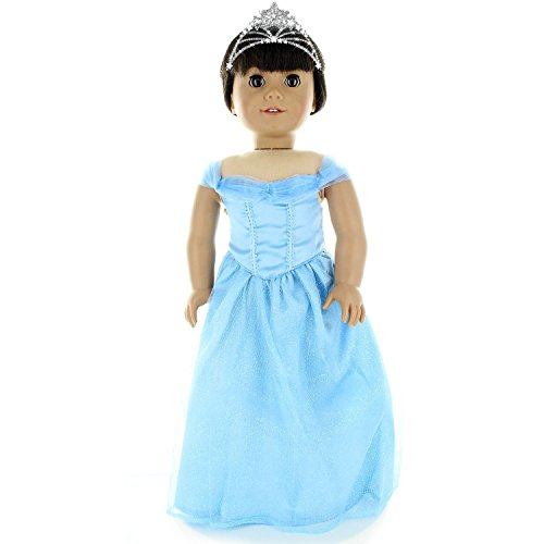 Dress for  Light Blue Dress with Butterfly Decoration Doll Beautiful PY