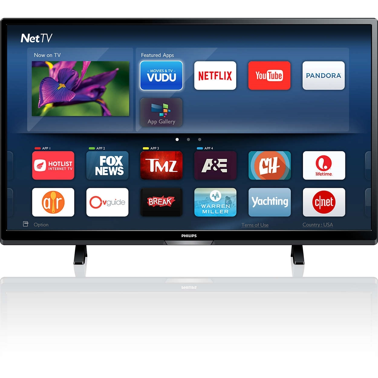 "Philips 50PFL5601/F74K50""LED TV, BLACK(Certified )"