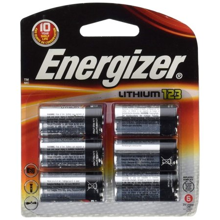 Energizer 123 Lithium Batteries - New Energizer 123 Lithium Photo Battery 6 Pack 3 Volts 10 Year Shelf Life For Digital Electronics By Energizer Batteries