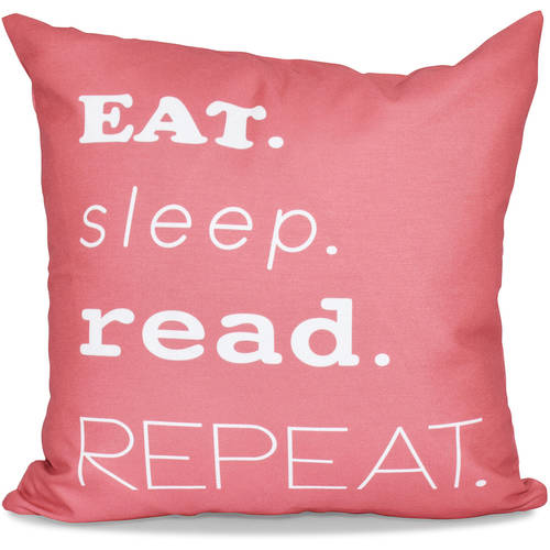 """Simply Daisy 16"""" x 16"""" My Mantra Word Print Pillow"""