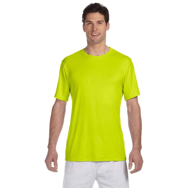 Hanes 4820 Cool Dri Men's Performance T-Shirt - Safety Green - X-Large
