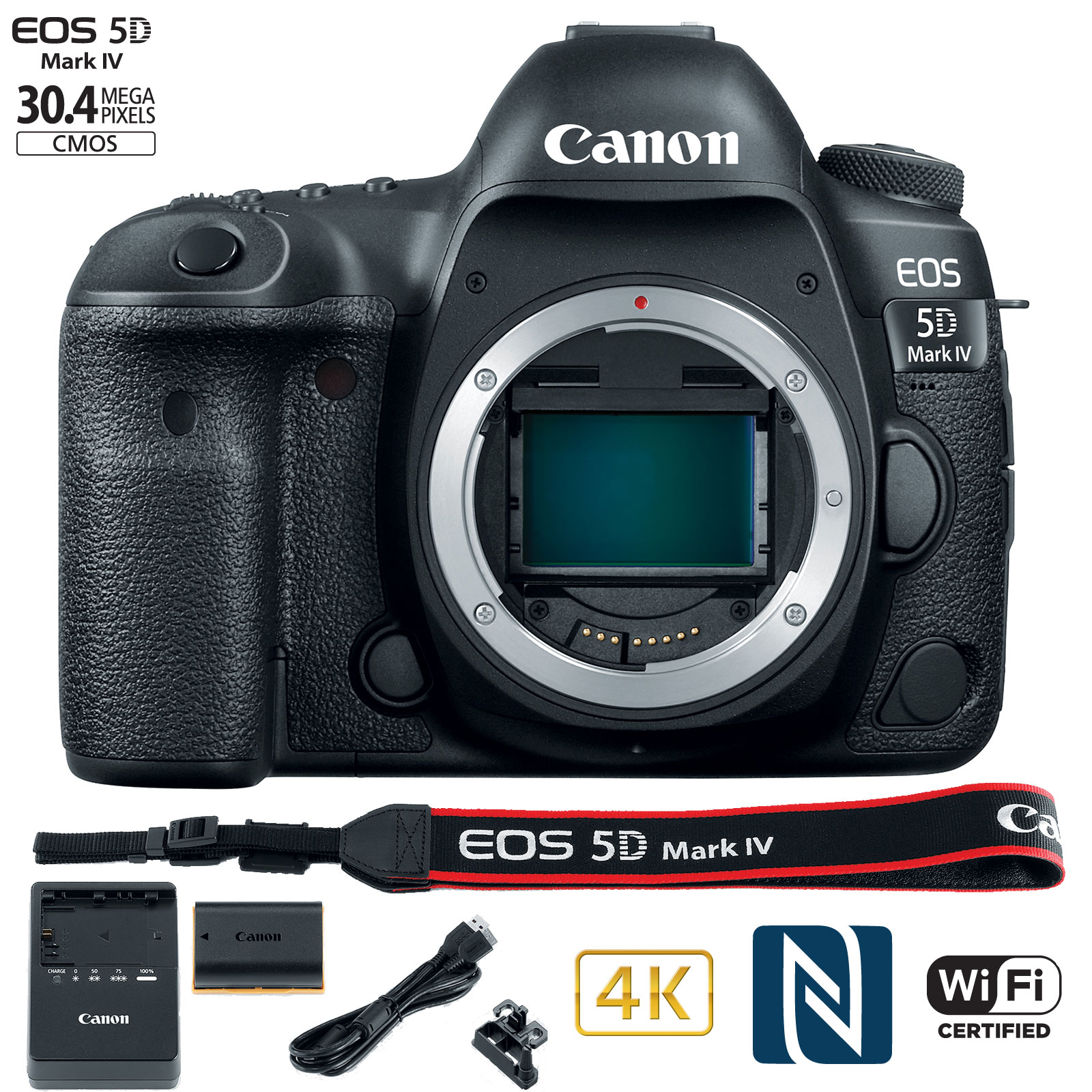 Canon EOS 5D Mark IV 30.4MP Full Frame CMOS DSLR Camera (Body) WiFi NFC 4K Video by Canon