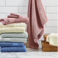 Better Homes & Gardens Wicker Jacquard 6 Piece Bath Towel Collection