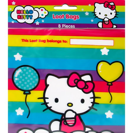 Hello Kitty Party Food (Hello Kitty 'Balloon Rainbow' Favor Bags)