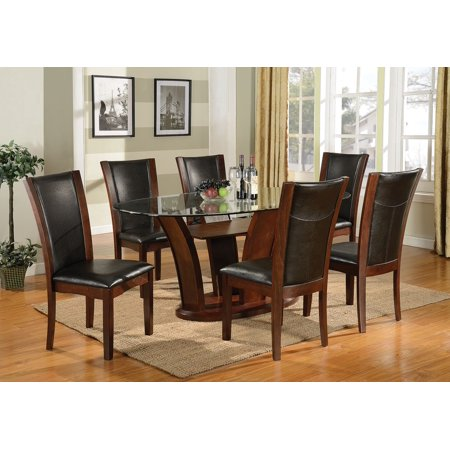 Brassex Oval Dining Table Chairs Dark Cherry