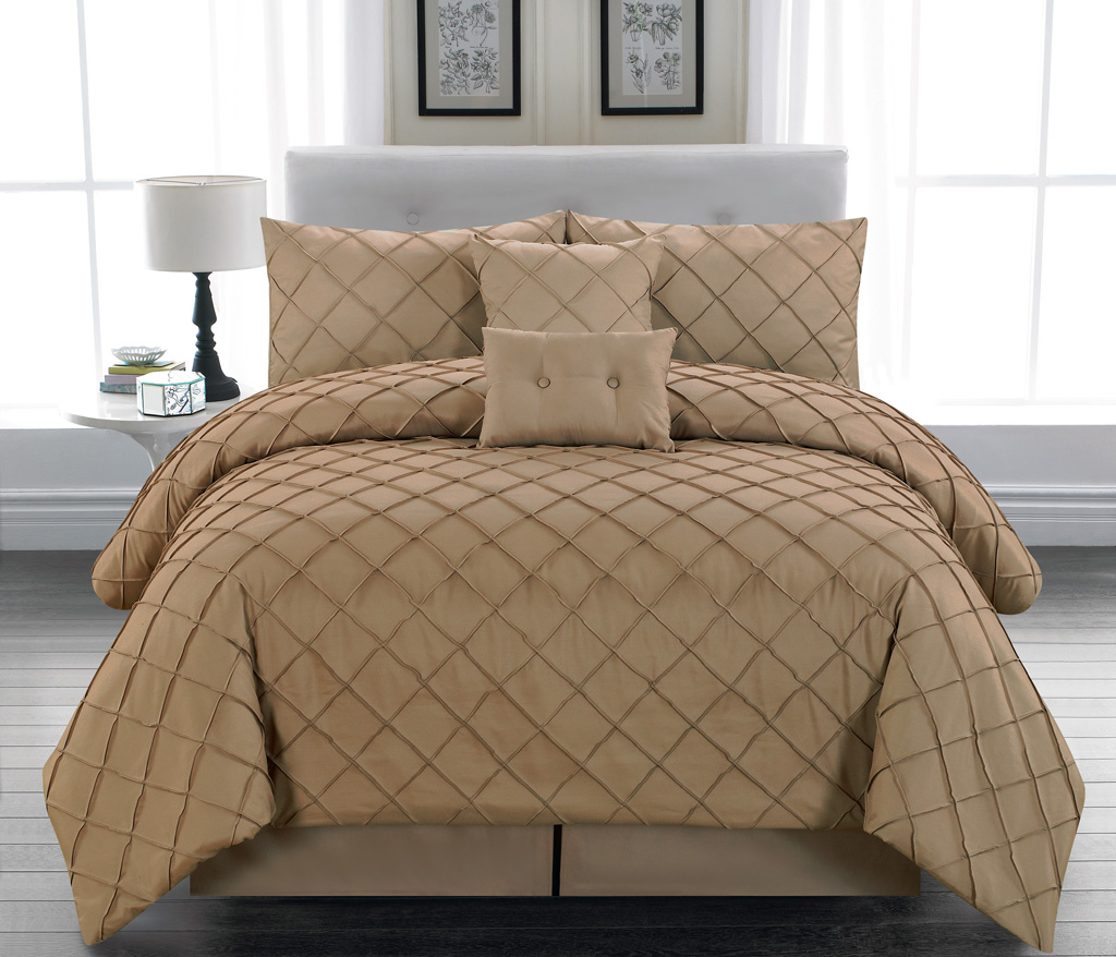 taupe king comforter sets 6 Piece Melia Taupe Comforter Set   Walmart.com taupe king comforter sets