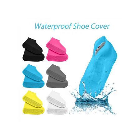 EWAVINC Waterproof Rain Shoe Covers Men Women Kids Reusable Boot Overshoes Anti-Slip Silicone Rainproof Foldable Portable Cycling Outdoor Shoes (Best Cycling Overshoes For Warmth)