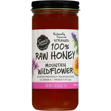(2 Pack) Sam's Choice 100% Raw Honey, Mountain Wildflower, 11 oz