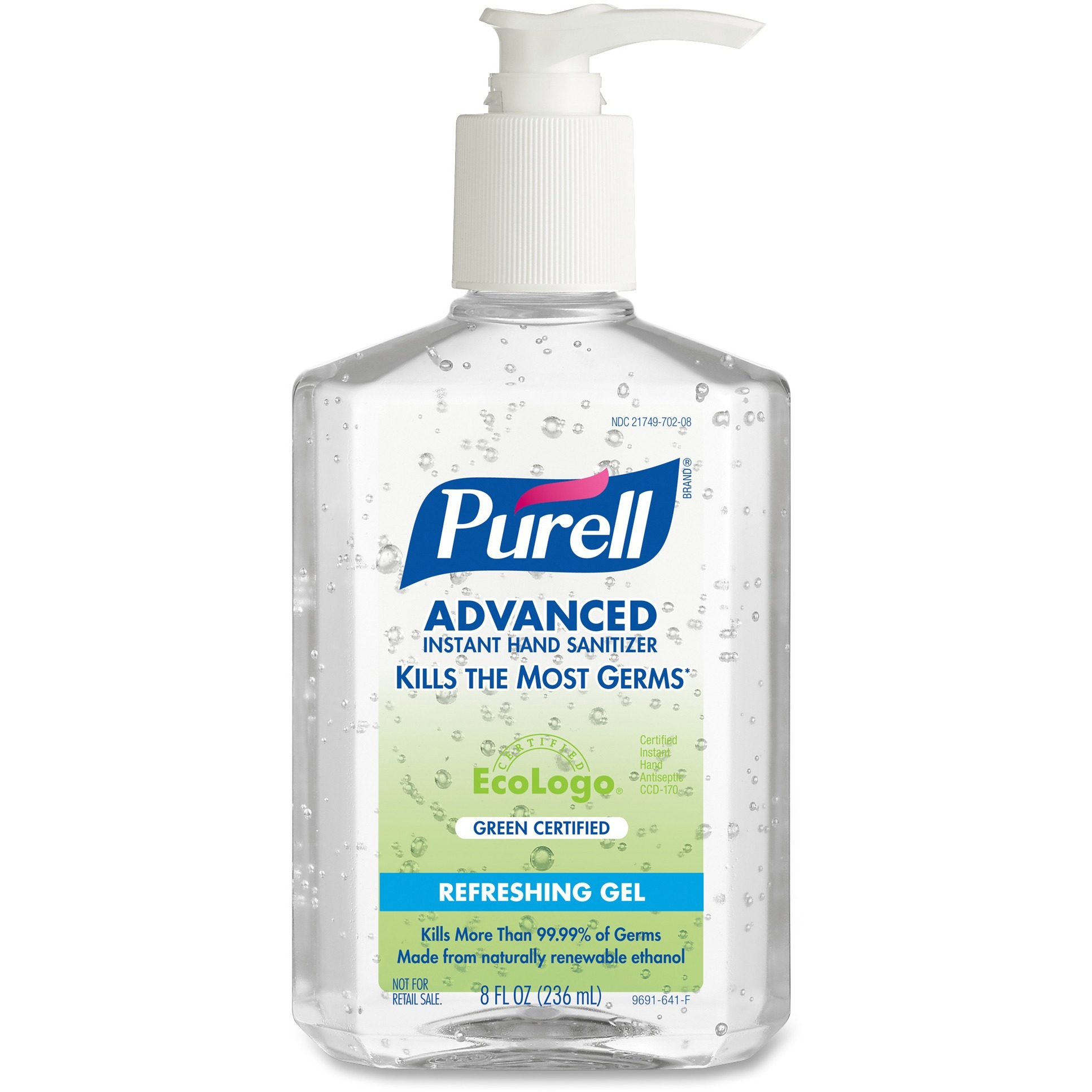 PURELL®, GOJ969112CT, Green Certified Instant Hand Sanitizer, 12 / Carton, Clear