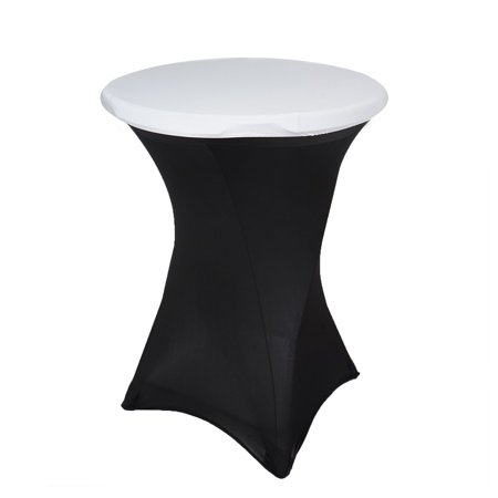 Efavormart White Spandex Cocktail Table Top Stretch Cover for Kitchen Dining Catering Wedding Birthday Party Decorations Events