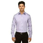 Ash City - North End Men's Boulevard Wrinkle-Free Two-Ply 80's Cotton Dobby Taped Shirt with Oxford Twill