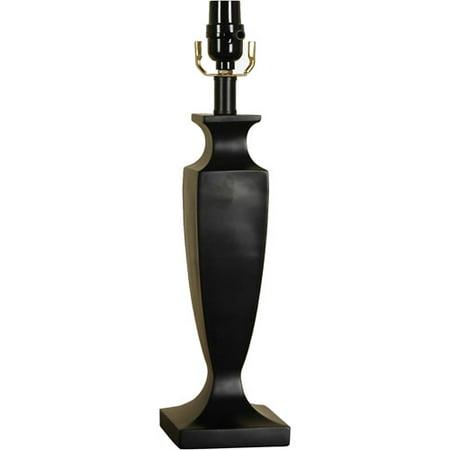 hometrends resin table lamp base black. Black Bedroom Furniture Sets. Home Design Ideas