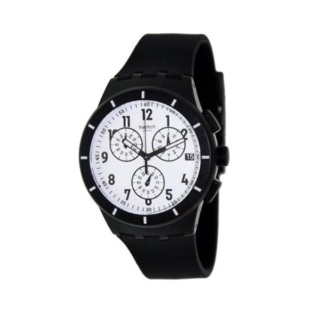 Swatch Men's Originals SUSB401 Black Rubber Swiss Quartz Watch