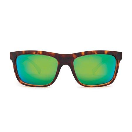 75affe7136d Kaenon Clarke Matte Tortoise (B12 Coastal Green Mirror) Polarized Plastic  Sunglasses 56mm