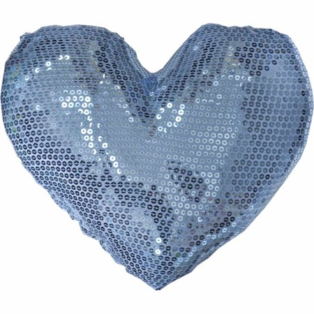 Teen Vogue Sequin Die-Cut Heart Decorative Pillow