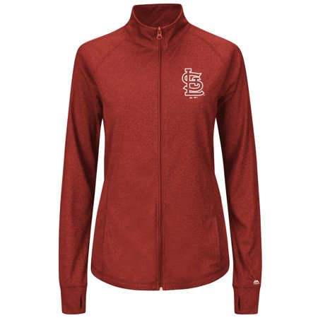 St. Louis Cardinals Womens Majestic Sweetheart Full Zip Fashion Top Shirt by