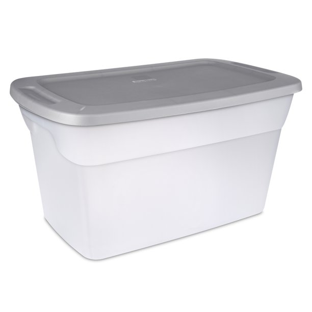 Sterilite 30 Gal 114 L Tote Box Clear Titanium Walmart Com Walmart Com