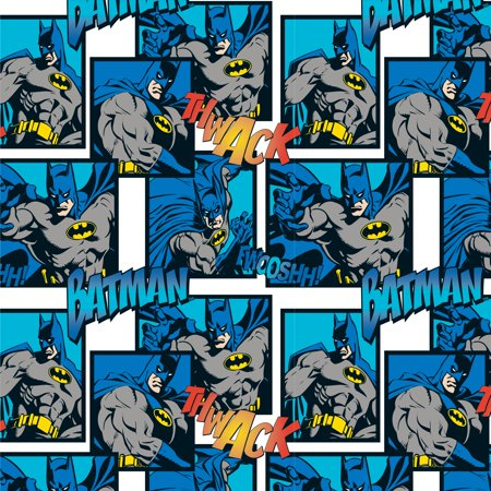 Batman Pre-Cut Anti Pill Brushed Fleece Fabric, per Yard