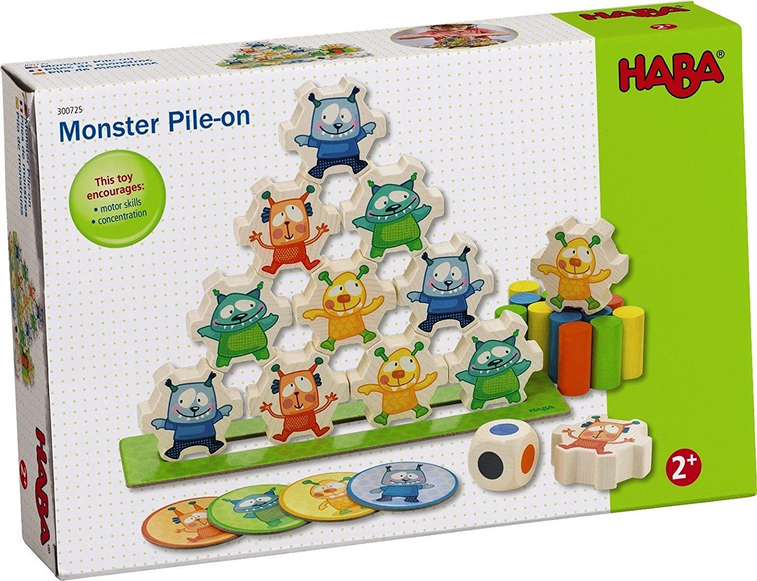 Monster Pile-On Stacking Toy by Haba (300725) by HABA