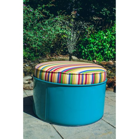 Drum Works Top Sail Outdoor Ottoman with Cushion