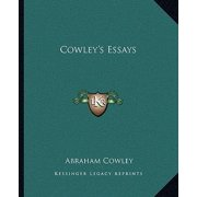 Cowley's Essays