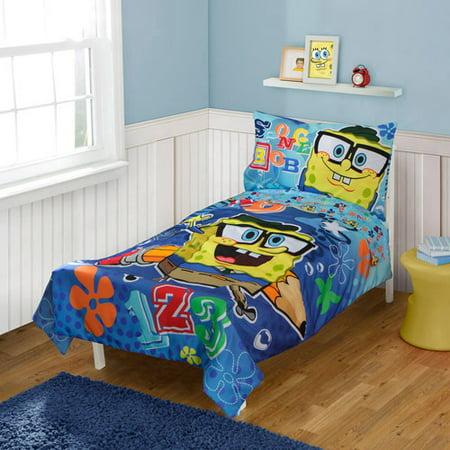 Nickelodeon Spongebob Squarepants 4 pc Toddler Bed Set. Nickelodeon Spongebob Squarepants 4 pc Toddler Bed Set   Walmart com