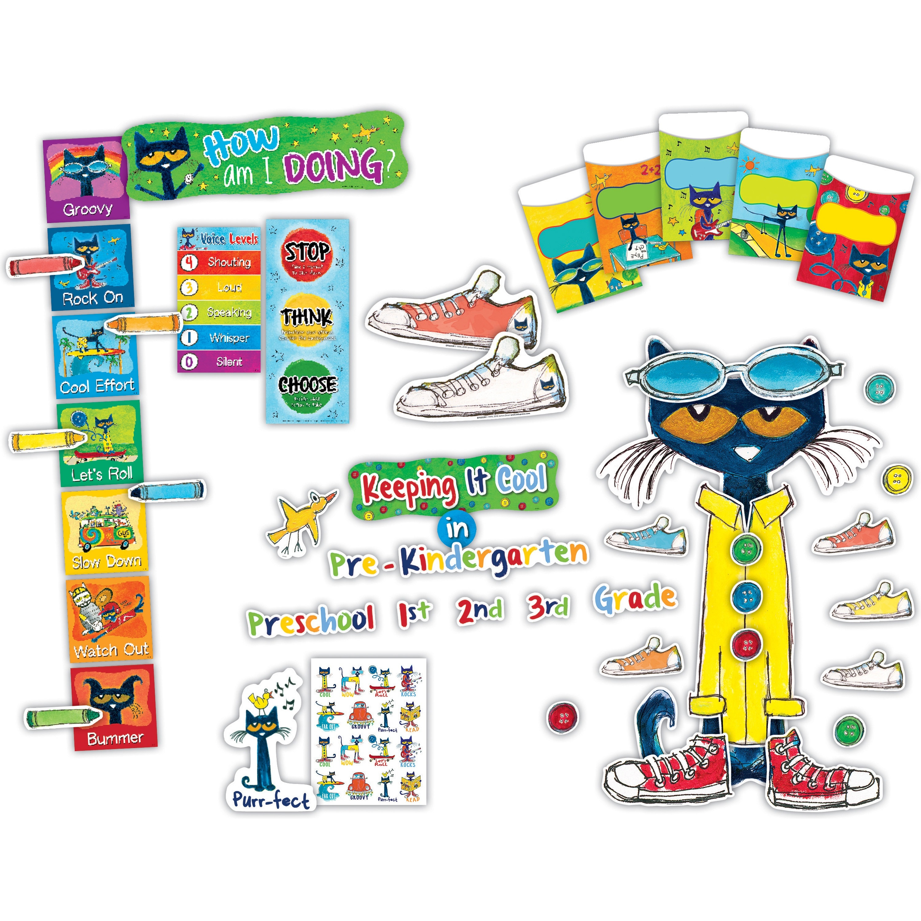 Teacher Created Resources Pete The Cat Bulletin Board Set (tcr-9475)