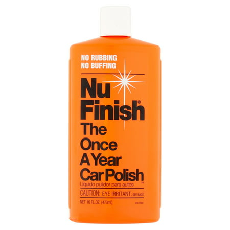 Nu Finish The Once A Year Car Polish, 16 fl oz (Best Car Polish And Wax For Black Cars)