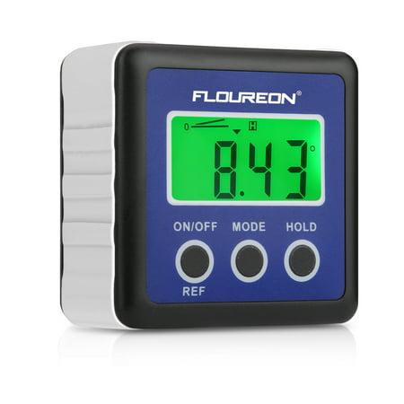 - Floureon Digital Bevel Box Gauge LCD Green Backlight Display Angle Finder Protractor, Waterproof