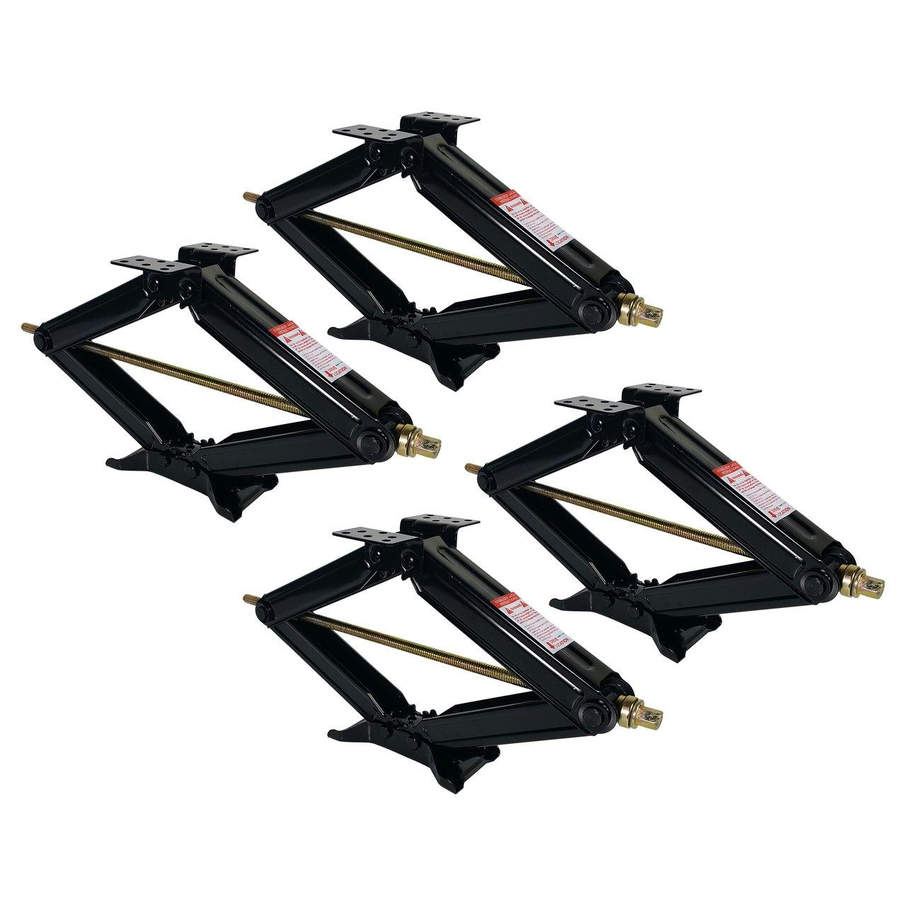 "RV Stabilizing and Leveling Scissor Jack 24"" 5000 lbs with Handle - 4 Pack"