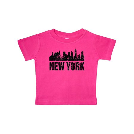 New York Skyline Grunge Baby T-Shirt
