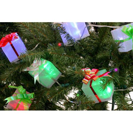 Cordless Battery Powered Operated Christmas Tree Ornament Box Light -