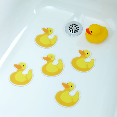 SlipX Solutions Adhesive Bath Treads: Duck Tub Tattoos (5 Count) ()