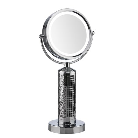 Fanity Two-Sided Magnifying Lighted Makeup Mirror Vanity Mirror with Built-In Two Speed Cooling Fan Air Circulator, 10x Magnification (Mirror Air)
