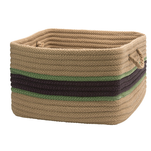 Colonial Mills Garden Banded Square Utility Basket