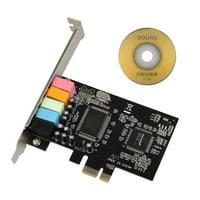 EEEkit PCIe Sound Card for PC Windows 10, PCI Express Desktop Sound Adapter, 3D Stereo PCI-e Audio Card, CMI8738 Chip Sound Card for Windows XP / 7/8