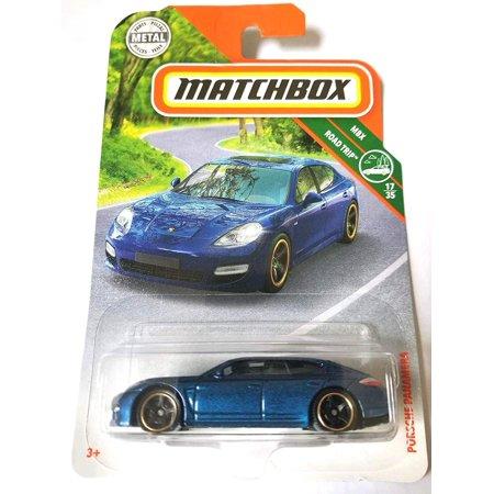 2019 MBX Road Trip Porsche Panamera 26/125, Blue, 1:64 scaled die-cast vehicle. By