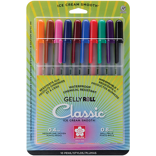 Sakura Gelly Roll Metallic Medium Point Pen, 10/pkg