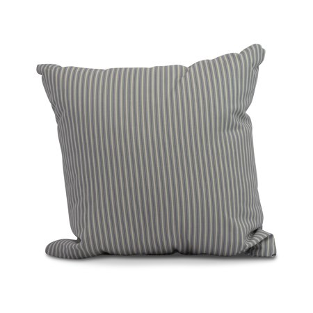 Simply Daisy, 16 x 16inch, Ticking Stripe Outdoor Pillow, Navy Blue ()