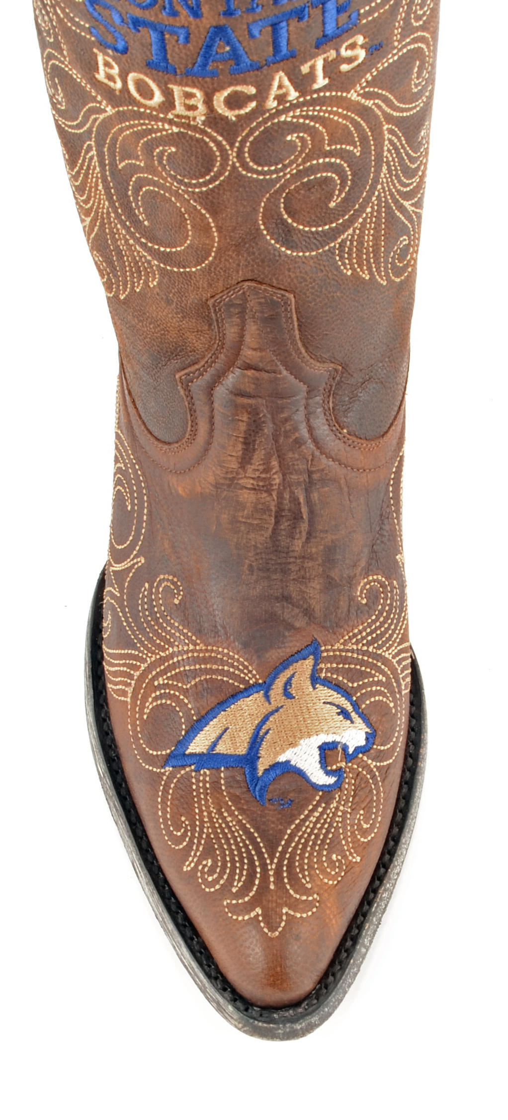 """Gameday Womens 13"""" Leather MT-L235 Montana State Cowboy Boots MT-L235 Leather New abd028"""