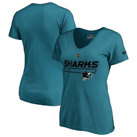 San Jose Sharks Fanatics Branded Women's Authentic Pro Prime T-Shirt -