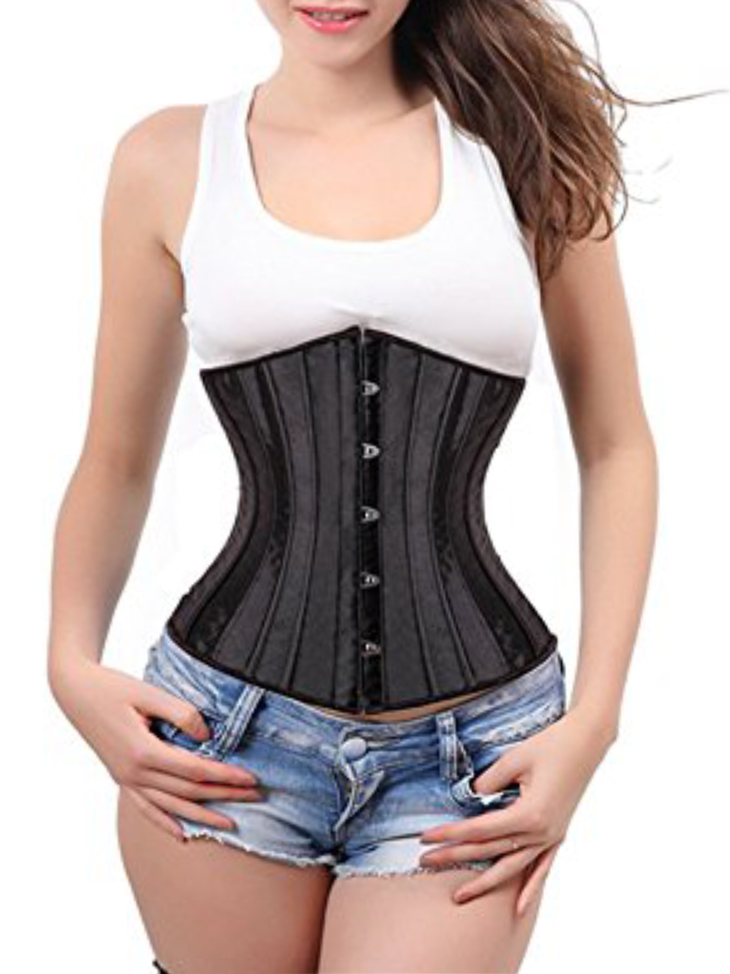 8e1eacd06f SAYFUT Fashion Womens Sexy Body Shaper Underbust Corset For Weight Loss -  Walmart.com