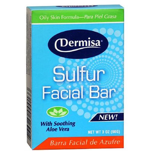 Dermisa Sulfur Facial Bar 3 oz (Pack of 6)