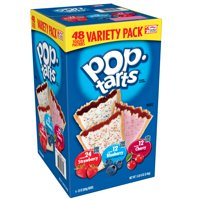 Pop-Tarts Frosted Variety Pack, 48 Toaster Pastries (24 Strawberry, 12 Blueberry, 12 Cherry)